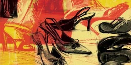 Foley's Shoe Department illustration