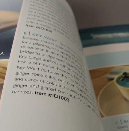 Island Desserts Product Catalog
