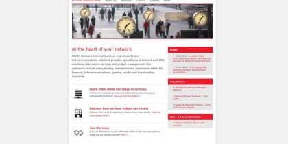 CACI Network Services website